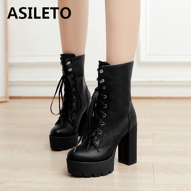 15649ea1 grey Alto brown Black 2018 Hasta A750 12 Plataforma Zapatos Tacón Mujer  Encaje Cm Mujeres Asileto ...