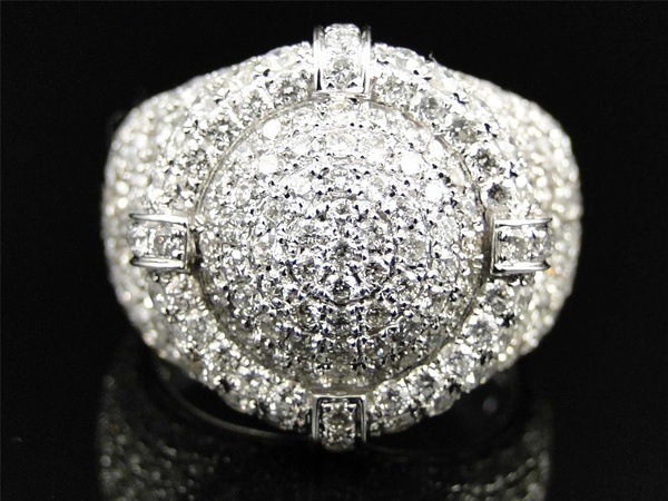 925 Silver Zircon Rings Shiny Full Small Zircon Big Ring for Men Fashion Zircon Jewelry in Rings from Jewelry Accessories