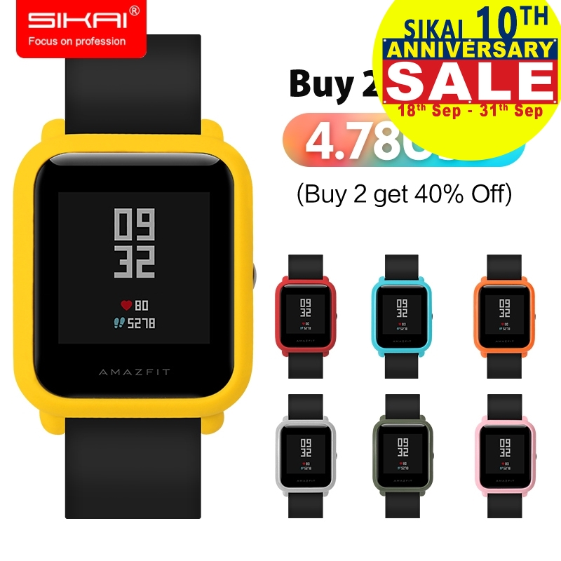 SIKAI Patent Hard Plastic Protective Case Cover for Amazfit Watch Protector Case For Xiaomi Huami Amazfit Bip Youth Watch Case стоимость