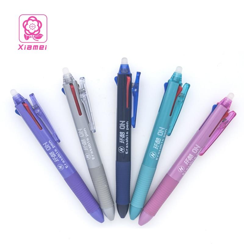 Xiamei 1 pieza unids bolígrafo borrable 3 en 1 bolígrafo Gel 0,5mm pluma estudiante papelería negro rojo azul Chancery Magic Pen