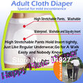 HappyFlute adult cloth diaper for mild incontinence, incontinence pants (5diaper+10 inserts) free shipping