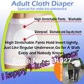 Happyflute pano adulto fraldas para incontinência ligeira, calças de incontinência (5 fralda + 10 inserções) frete grátis