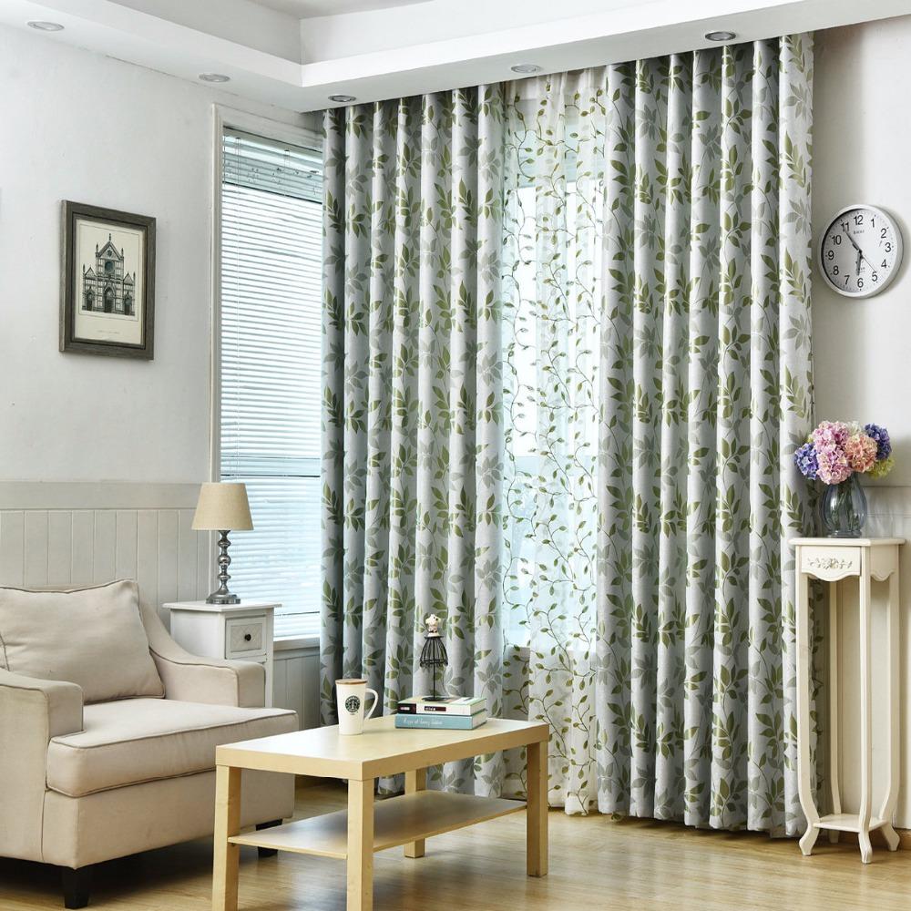 ventana apagn cortinas para la sala de estar cocina dormitorio hojas patrn estilos pas decoracin para