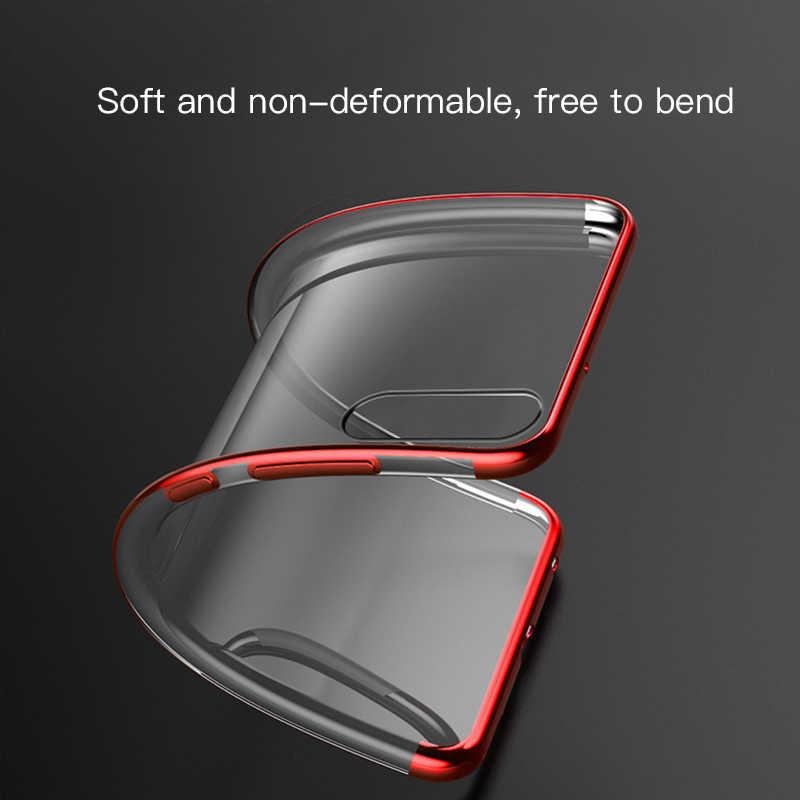 Cubierta de teléfono de TPU enchapado para Huawei P20 P30 Lite P10 silicona suave delgada transparente para P20 Pro P10 Plus la protección Fundas