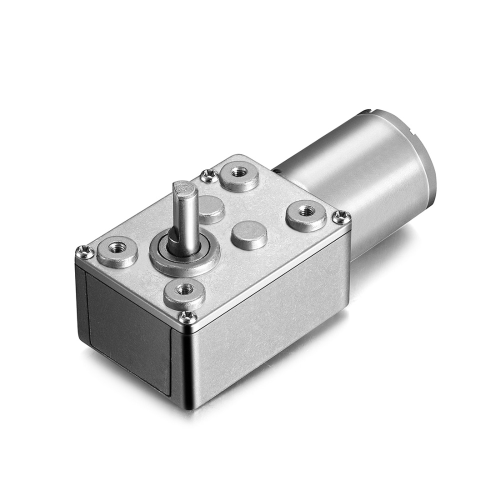 12V 100RPM Electric Metal Reversible Worm Geared DC Motor 6mm D Shaped Shaft High Torque Turbine Worm Gear Box Reduction Motor dc 12v 6mm shaft 5rpm high torque turbines worm gear box reduction motor
