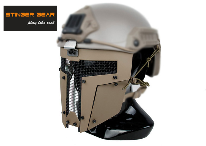 Stinger Gear SPT Coyote Brown Full Face Mesh Mask Airsoft Helmet Mask+Free shipping(STG050888)