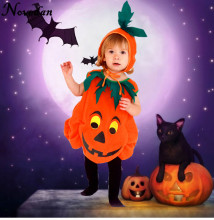 Baby Halloween Costume Pumpkin Cosplay Outfit For Kids Girls Toddler Halloween Dress Cute Children Clothing Set цена в Москве и Питере