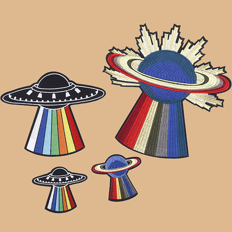 New Beaded Embroidered Patch Applique Clothing Accessories Diy Decorative Sequins Cloth UFO Spot