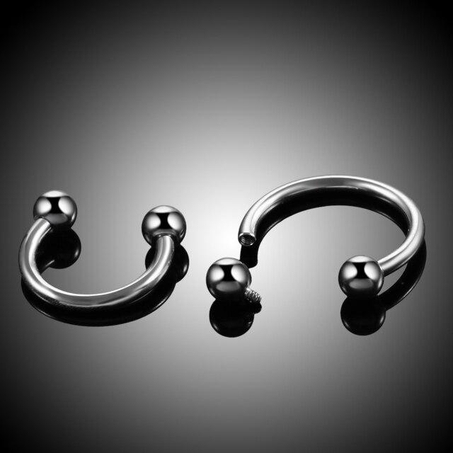 1PC G23 Titanium Internal Thread Nose Rings Piercings HorseshoeHelix Piercings Eyebrow Piercings BCR Earring Tragus Body Jewelry 5