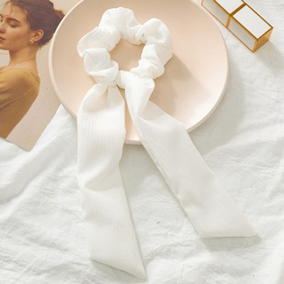 Модный летний шарф «конский хвост», эластичная лента для волос для женщин, бантики для волос, резинки для волос, резинки для волос с цветочным принтом, ленты для волос - Цвет: 03