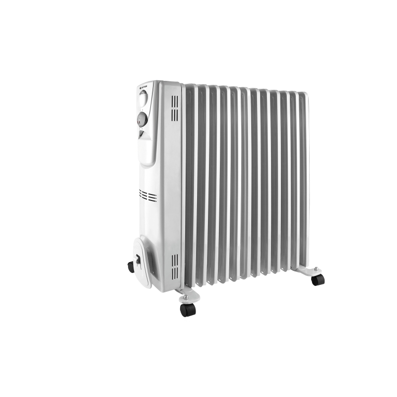 Heater oil Vitek VT-2129 (W) (Power 2500 W, 13 sections, heating area up to 20 sq. M, overheating protection) heater oil resanta омпт 7н power 1500 w 7 sections adjustment heating