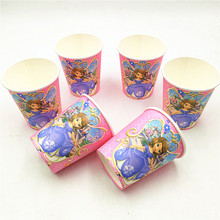 10pcs/lot Sofia Princess Party Supplies Paper Cup Cartoon Birthday Decoration Baby Shower For Kids Girls Boys цена