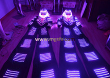 Free Shipping RGB LED Robot suits for stilts walker / David Guetta LED Kryoman / Robot Costumes