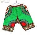 Mr Hunkle New Design African Traditional Print 100% Cotton Dashiki Sky Blue Short Men's African shorts