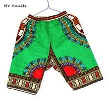 Г-н Hunkle Новый Дизайн Традиционной Африканской Печати 100% Хлопок Dashiki Небесно-Голубой Короткие мужские Африканских шорты