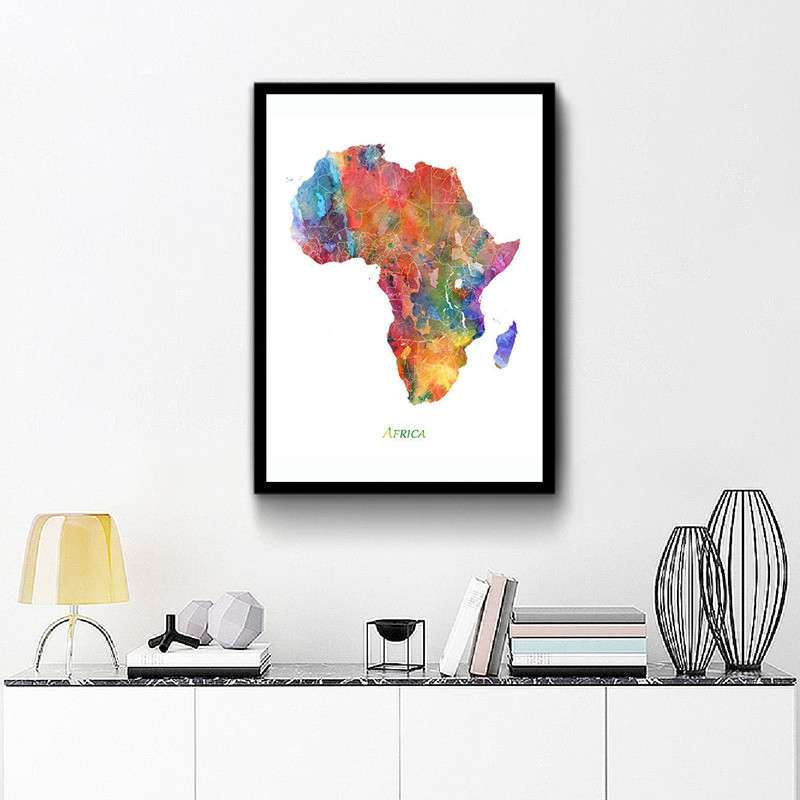 Africa Map Canvas Print Living Room Decor