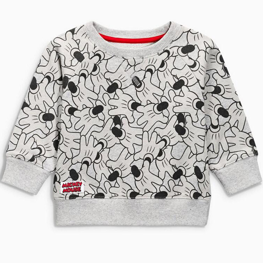 (2T-7T)6pcs/1 lot Cartoon gray long sleeves t-shirt for boys printing T-shirts for boys Sweatshirt Kids Clothes