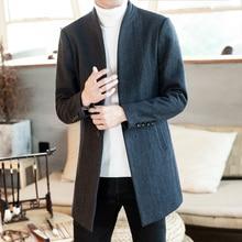 2019 New Mens Wool Coat Jacket Double-breasted Mens Overcoat Men Coat Winter Slim Solid Male Trench Woolen cloth coat size S-5XL
