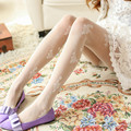 Sweet Summer Tights Lady's Rose Jacquard Pantyhose for Women