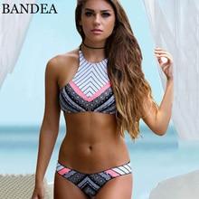 Bandea новое прибытие купальники женщины лето женщины сексуальное бикини установить 2017 полоса купальник пляжной одежды купальный костюм бразильский biquini набор