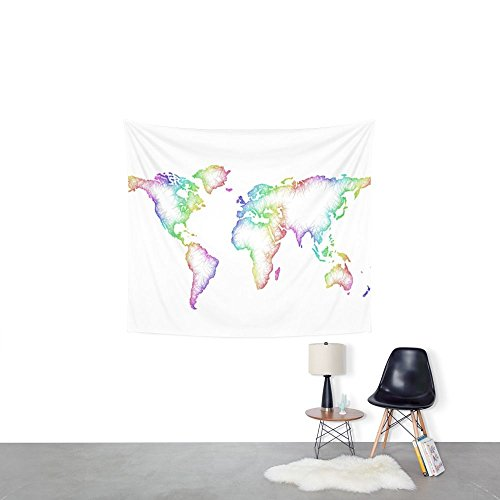 World Map Wall Tapestry Wedding Party Gift Bedspread Beach Towel Yoga Picnic Mat