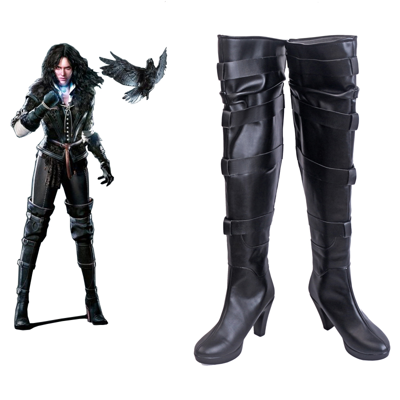 The Witcher 3 Wild Hunt Yennefer of Veng Cosplay Shoes Boots Halloween Carnival Cosplay Costume Accessories