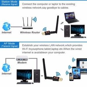 Image 3 - Zoweetek Wireless Mini Wifi Adapter 2d600Mbps 802.11ac Dual Band 2.4G/5G USBเครือข่ายEthernetตัวรับสัญญาณ2dBi