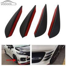 Fin Front-Bumper-Lip-Splitter Car-Spoiler Auto-Body-Kit Canards Chin-Accessory Carbon-Fiber