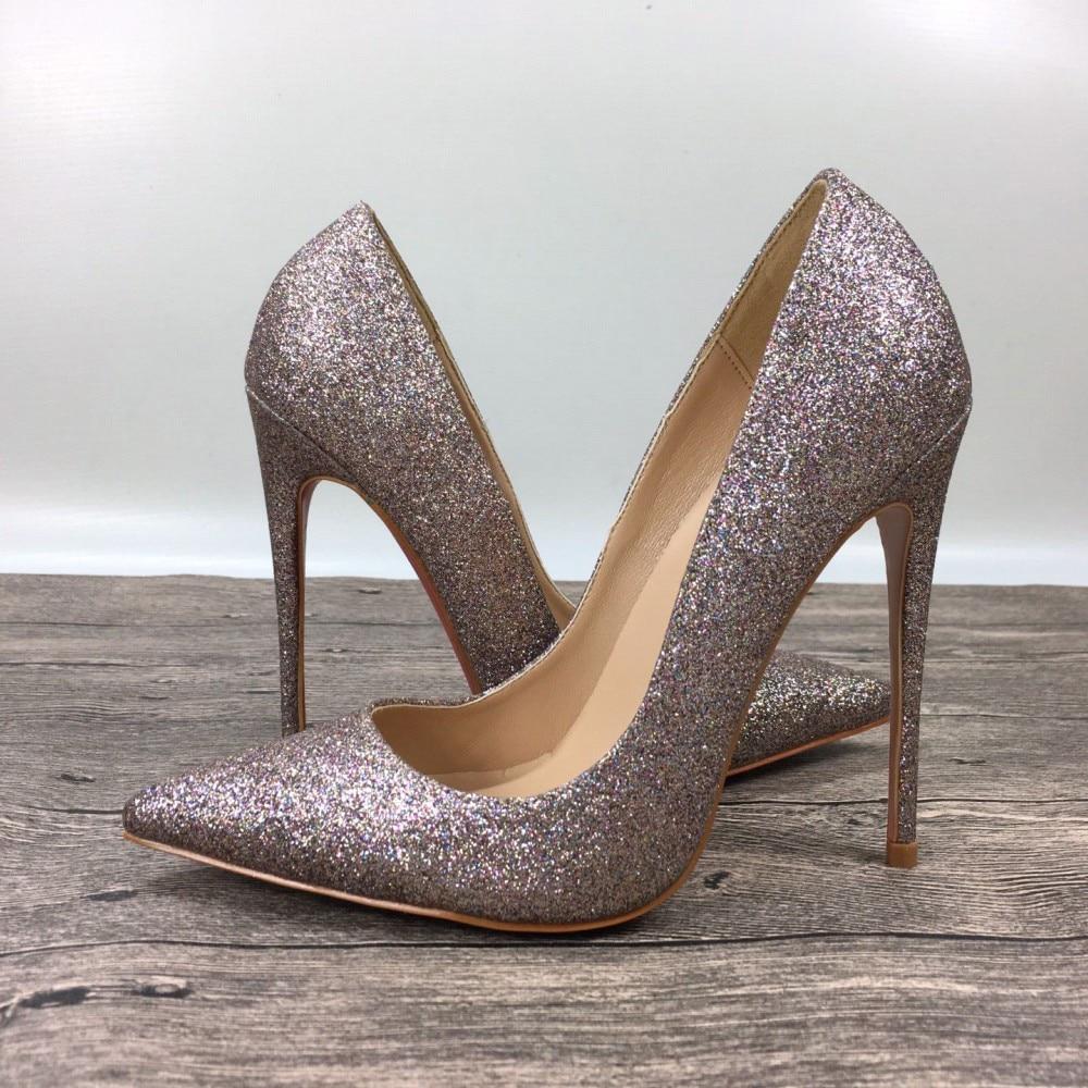 New Womens High Heels Sequins Shoes Exclusive Brand Women -3472