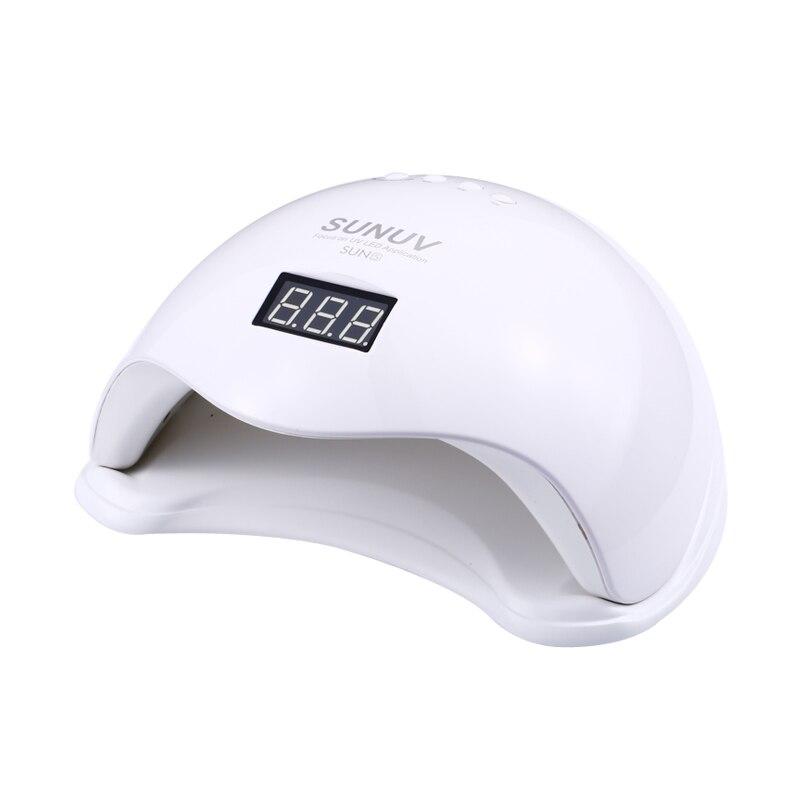SUN5 48 Вт белый светодио дный свет Professional LED & UV лампа для гель-машины инфракрасный датчик таймер набор гель все УФ гель лак для ногтей гель ламп...