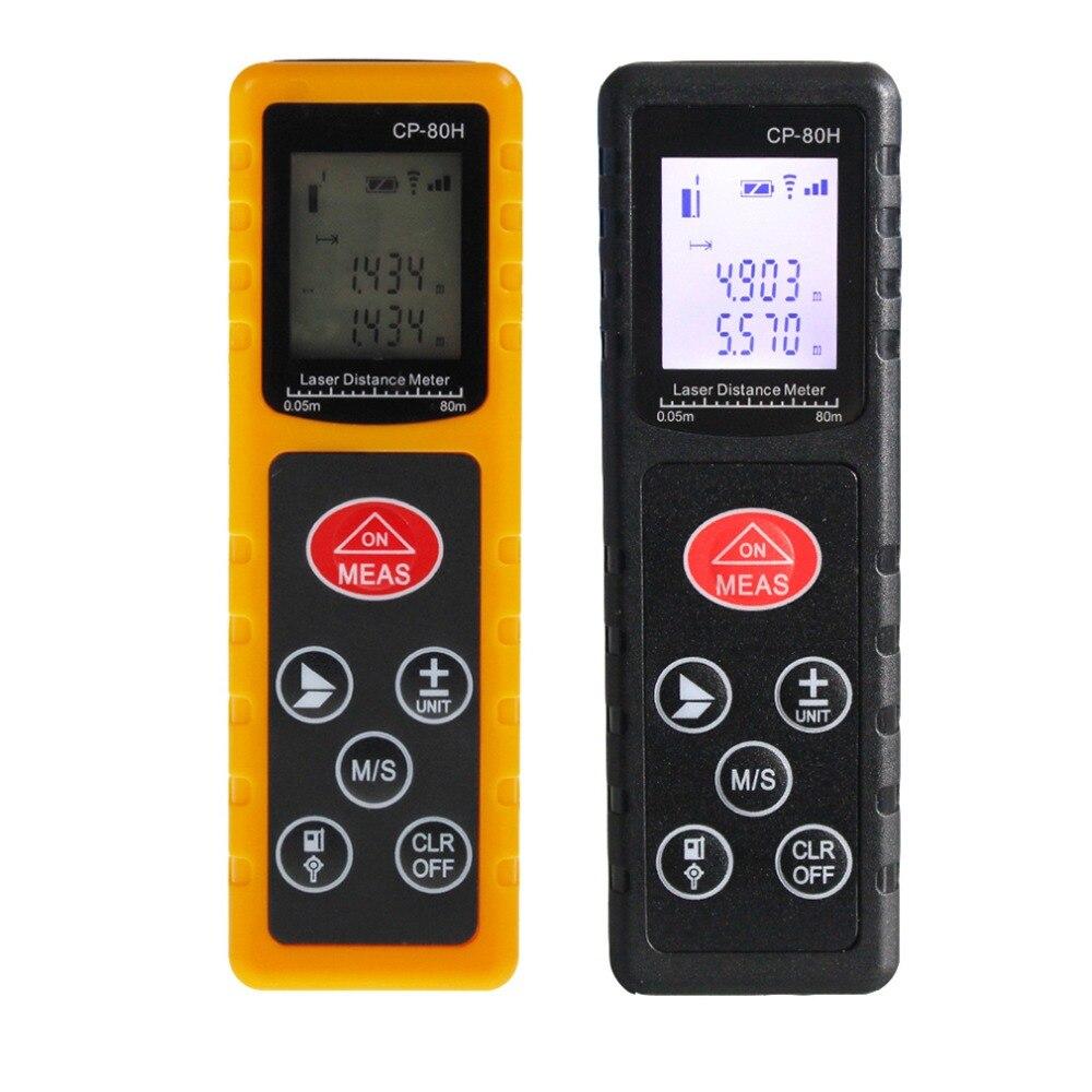 2019 Nieuwe Stijl Mini 80 M Handheld Digitale Laser Afstandsmeter Range Finder Diastimeter Afstandsmeter Maatregel Test Tool Voor Bouw Industrie