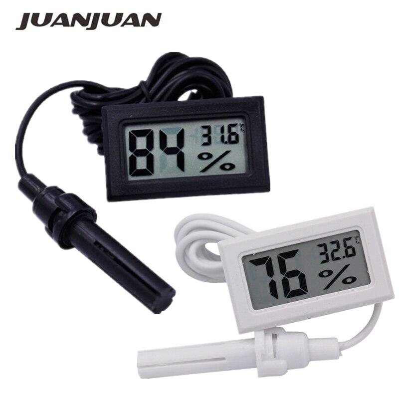 100pcs lot Digital Mini LCD Digital Thermometer Hygrometer Fridge Freezer Temperature Humidity Incubator Meter 30 off