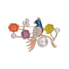 Beautiful Rhinestone Bird Brooch Pin Animal Brooches For Wedding Women Decoration Wild Fashion Jewelry