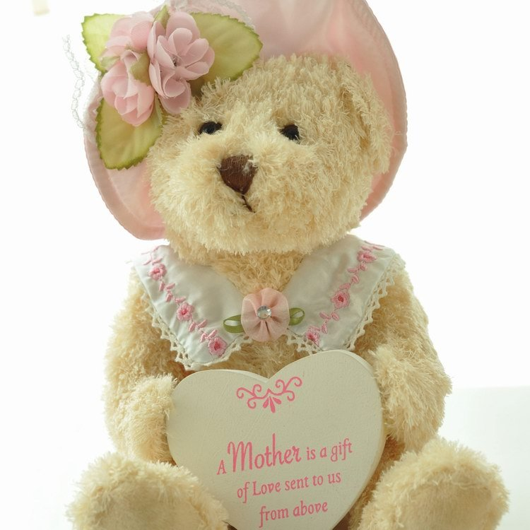 Free Shipping Beautiful Cloth Doll Bear Holding Heart Lovers Teddy Birthday Gift Specail For Girls In Stuffed Plush Animals From Toys Hobbies On