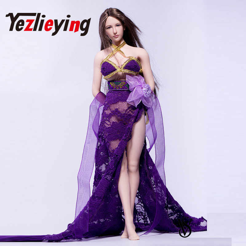 fd323e9c73e Dancer sexy slits dress purple flowers 1 6 ratio clothing clothes 12