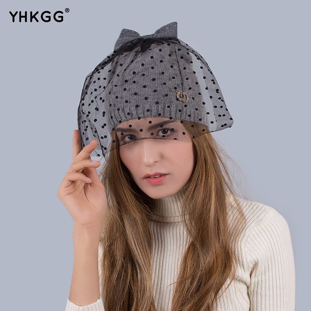 Simple and easy raccoon hair bulb wool knitted hats Warm winter hat  2016   YHKGG  NEW Mysterious and elegant charm of the lady