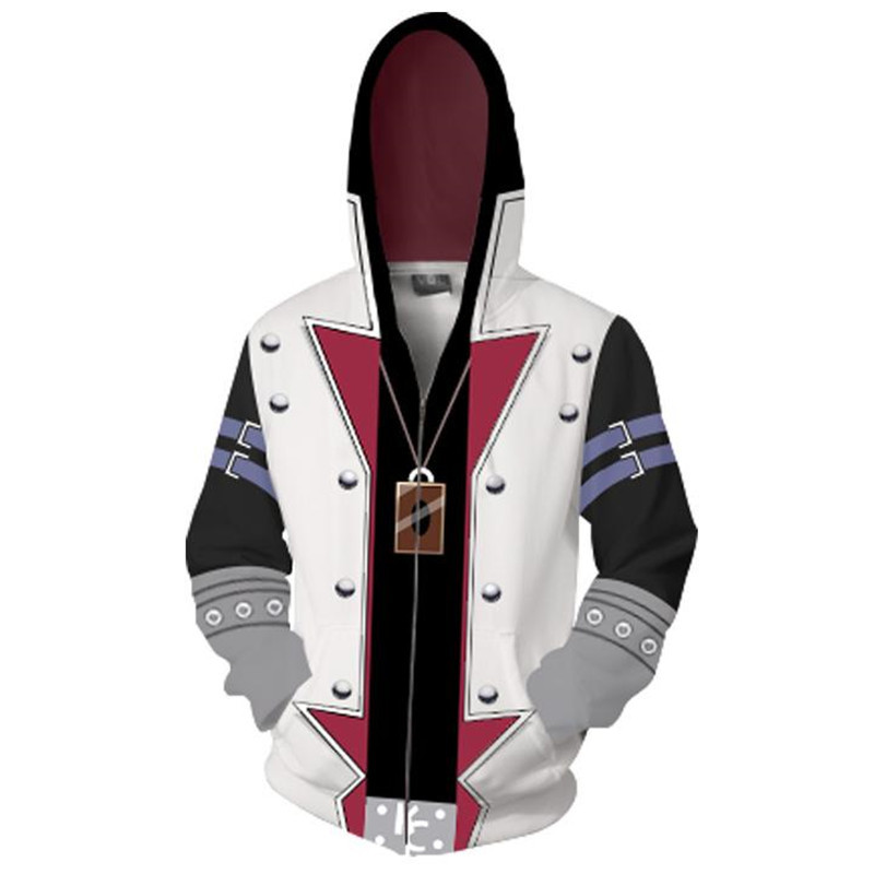 3D Print Japan Anime Yu-Gi-Oh! Costumes Duel Monsters GX Sweatshirts Hoodies Fashion Cosplay Zipper hooded Jacket clothing