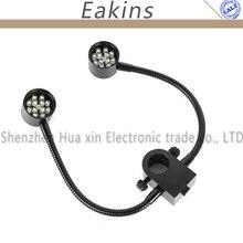 22 мм/25 мм 3 Вт 2x12 Светодиодный светильник с двумя гусиными горлышками для промышленного стерео микроскопа камера Лупа
