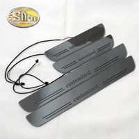SNCN personalizado acrílico móvil LED Bienvenido Pedal coche raspado placa Pedal puerta alféizar camino luz 2 uds o 4 Uds