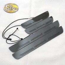 Акриловая движущаяся светодиодная подсветка SNCN на заказ, подвижная педаль, Накладка на порог автомобиля, 2 шт. или 4 шт.