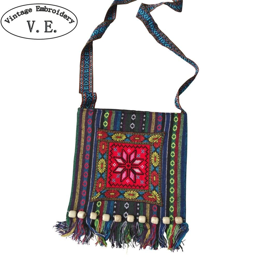 Bag Boho Hobo Hmong Ethnic Shoppers Bag Women's Shoulder Messenger Bag Embroidered Handbag