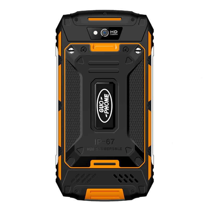 GUOPHONE X2 IP67 Impermeabile shockproof Del Telefono Mobile 5500 mah 5.0 HD MTK6737 Quad Core 2 gb + 16 gb android 6.0 8MP GPS 4g SmartPhone - 4