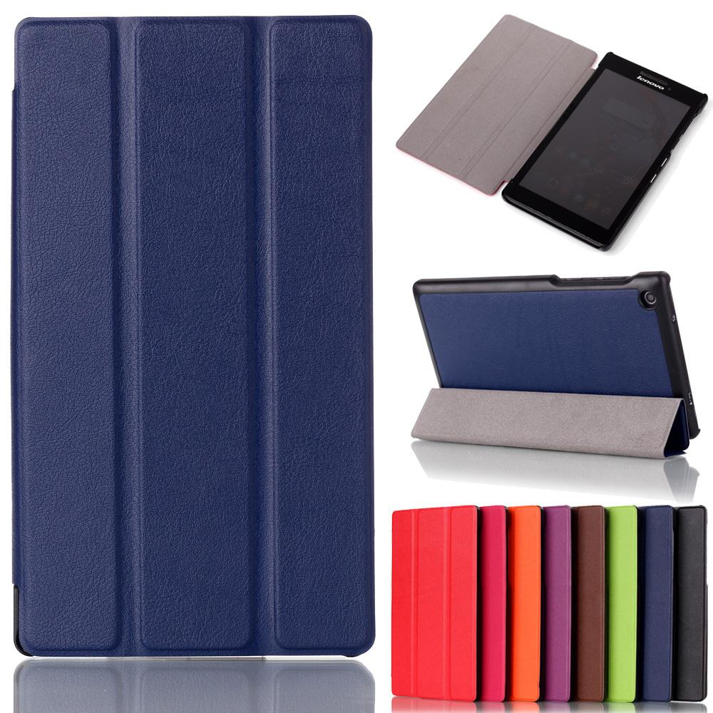 For Lenovo tab 2 A7-30 2015 Tablet PC Protective Leather Stand flip Case Cover for Lenovo A7 30 +screen protector + stylus pen