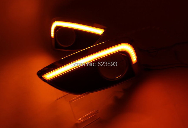 For 2010 2013 Tucson Fuel Cell Hyundai IX35 Amber / White Switchback LED  DRL Daytime Running Light W / Turn Signal Feature