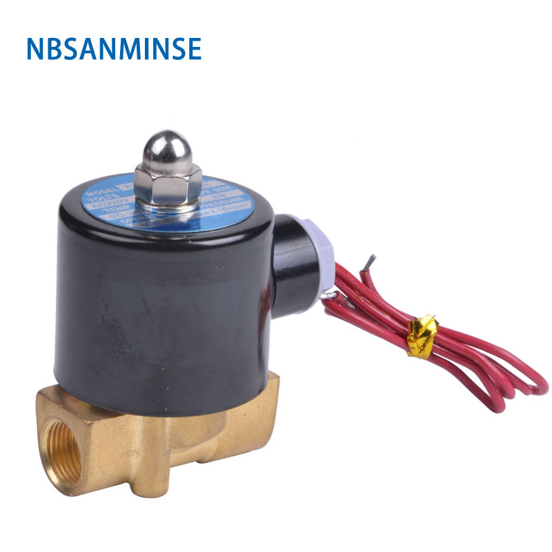 NBSANMINSE 2WH 2Mpa 100 Brass direct acting two position two way solenoid valve high pressure Water Valve in Valve from Home Improvement