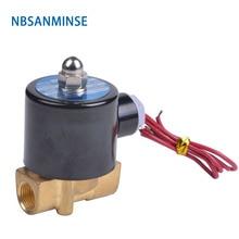 купить NBSANMINSE 2WH 2Mpa 100% Brass direct acting two position two way solenoid valve high pressure Water Valve по цене 1157.57 рублей