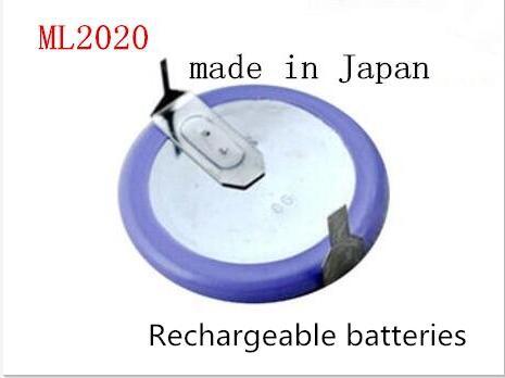 Nouveau ML2020 2020 3 V batterie Rechargeable bouton piles la batterie télécommandée avec pied de soudage 180 degrés 5 pcs/lot