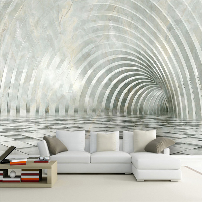 Custom Photo Wallpaper Marble Texture 3D Stereoscopic Space Decoration Mural Living Room TV Background Wall Papel De Parede 3D custom photo wallpaper 3d stereoscopic cave seascape sunrise tv background modern mural wallpaper living room bedroom wall art