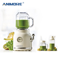 ANIMORE Juice Blender Retro Fruit Juicer Baby Food Milkshake Mixer Multifunction Juice Maker Machine Portable Fruit Blender