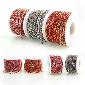 SS12 10 חצרות/רול עסקות חדשות קריסטל ריינסטון DIY יופי 3mm אופנה אביזרי קרוב יהלומים מלאכותיים כוס שרשרת